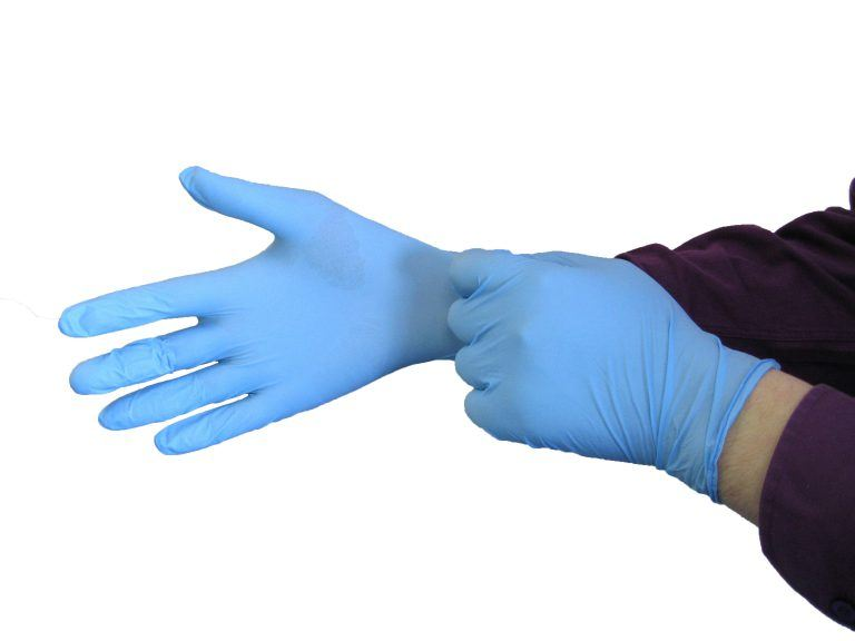 High Quality Blue Nitrile Glove - Cromwell Polythene